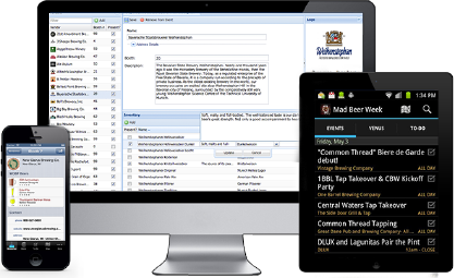 Example image of someone using FestBuddy festival organization software